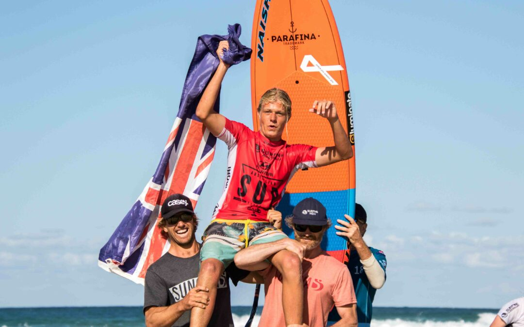 Joshua Stretton Crowned Junior Mens SUP Surfing Champion and Finalists Decided at the 2018 Hyundai Australian SUP Titles Presented by SAE Group
